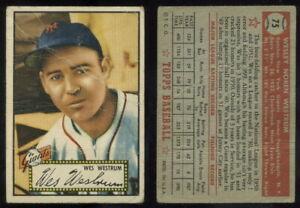 (69432) 1952 Topps 75 Wes Westrum Red Back Giants-PR