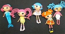 "Lot 5 LALALOOPSY Full Size 12"" Dolls Silly Hair Mermaid Nurse Dressed Shoes"
