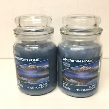Yankee Candle Clear Mountain Lake American Home 19 oz Jar x 2