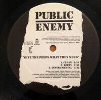 """Public Enemy Give The Peeps What They Need 12"""" Single 2002 Koch Promo Record"""