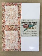 AMPAD PC Papers Invitations/Notes Floral Potpourri Angels 50 Cards & Envelopes