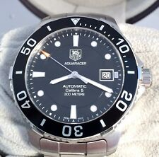 TAG Heuer Calibre 5 Aquaracer Automatic Mens Watch WAN2110 in Excellent Cond.