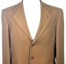Adolfo Couture 100% Cashmere Three Button Blazer Sport Coat Size 40R Fully Lined