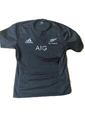 Adidas All Blacks Rugby AIG Short Sleeve Shirt Large