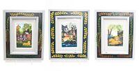 Set Of 3 Signed Ruth Schindler Framed Animal Prints Nursery Children Decor