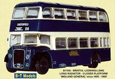 BT MODELS B110A - 1/76 BRISTOL LODEKKA LD1 SR MIDLAND GENERAL - CHESTERFIELD D8