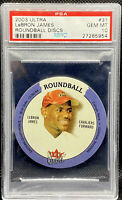 2003 LeBron James Fleer Ultra Rookie Round Ball Discs PSA 10 Rare 📈🐐