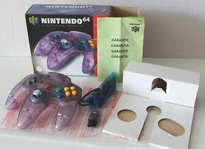 Manette officielle Nintendo 64 Clear Purple  neuve en boite