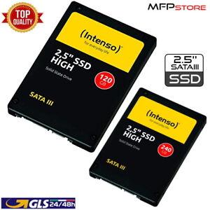 SSD INTENSO 120GB 240GB HIGH SATA3 2,5'' INTERNO PER COMPUTER DESKTOP LAPTOP