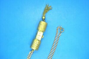 VINTAGE UNUSUAL LUCERNE PEEK-A-BOO PENDANT WATCH WITH CHAIN--RUNS GREAT