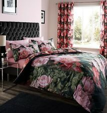 CATHERINE LANSFIELD DRAMATIC FLORAL DUVET QUILT COVER BEDDING OR CURTAINS SET