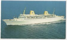 Swedish American Line Kungsholm Shipping Postcard B617