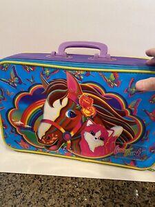 Vintage 1990's Lisa Frank 'Rainbow Chaser' 'Sunflower Kitten' Rolling Suitcase