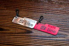 Audi S Line Personalised Number plate Keyring A3 A4 A5 A6 A7 A8 keytag key fob