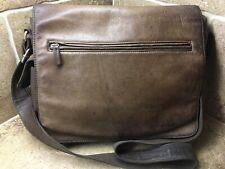 🔥FOSSIL VINTAGE LEATHER Messenger Laptop College Bag, SUPER NICE! Organizer🔥