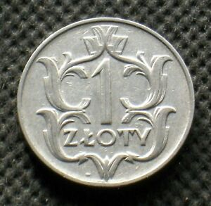 OLD COIN OF POLAND 1 ZLOTY 1929 SECOND REPUBLIC (II RZECZPOSPOLITA POLSKA)