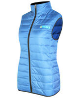 Women's Puffer Vest Jacket Light Weight Quilted Down Bubble Vest Navy-Sky Blue