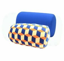 Two Pack Micro Bead Roll Bed Chair Car Cushion Soft Support Back Throw Pillows