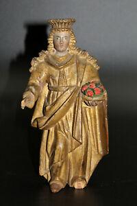 alte Statue, Holz geschnitzt, Heilige ? um 1800