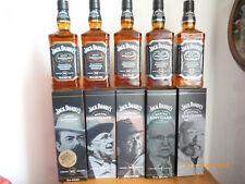 5 X JACK DANIELS-Master Distiller Série, 1+2+3+4+5 par 700 ml, 43% vol. Alc.
