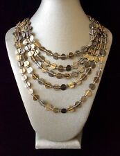 Chico's New With Tags Mixed Metals 5 Strand amazing Necklace-So Timeless-Nice!