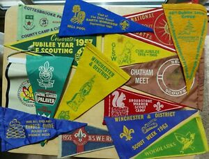 BOY SCOUT BADGES ASSORTED PENNANT COLLECTION