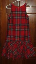 VINEYARD VINES Jolly Plaid AMELIA SWING DRESS Calypso Red NWT ($198) Size 12
