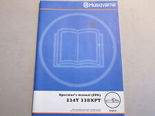 OEM Husqvarna 334T 338XPT Chain Saw Operator's Manual LOTS More Listed Chainsaw