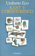 1997 ECO, KANT E L'ORNITORINCO – SEMIOTICA GNOSEOLOGIA LINGUAGGIO PRIMA EDIZIONE