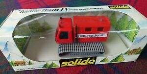 """SOLIDO """"Toner Gam"""" #3607 Kassbohrer snow fire truck rescue (MIB) Made in France"""