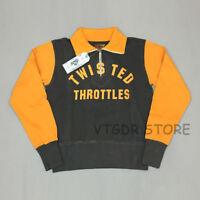 BOB DONG 1/2 Zipper Motoycycle Ricing Jersey Vintage Colorblock Biker Sweatshirt