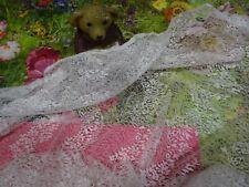 blanc 2mx1m ,neuve dentelle de calais ,loisirs créatifs couture  petits rideaux