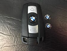 2Pc. Of 11MM (1.1 CM )BMW Remote Flip Key Fob Logo Badge Sticker aluminum steel
