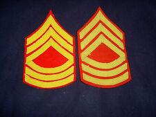 WW2 USMC master sergeant chevron pair braid on wool full dress