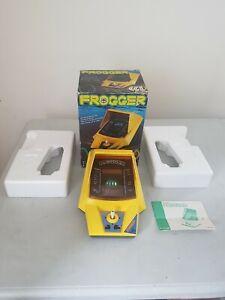 Boxed vintage Frogger Handheld Arcade Console Konami Working free UK p&p