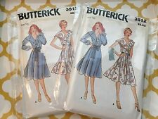 1970S BUTTERICK SEWING PATTERN 3512 MISSES RUFFLE NECK DRESS SZ 18 ONLY LEFT