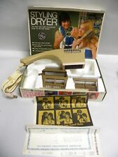 Vintage Retro Modern General Electric GE 5101-013 SD-4 Styling Hair Dryer (A6)