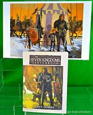 SKETCHBOOK & PRINT Signed George RR Martin Gianni A Knight Of The Seven Kingdoms
