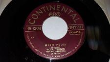 "VICTOR ZEMBRUSKI White Polka / Flying Red Horse 7"" Continental C-45-015 RARE"