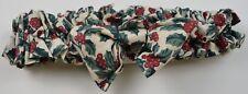 Longaberger Medium Basket Garter Holly Berry Fabric Decor Accent Collectible