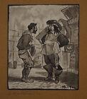 Encre De Chine Scene Sur Un Port Personnage Moul Ten 1923