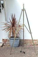 NEW METAL STAINLESS STEEL ALUMINIUM NICKLE FINISH TRIPOD STAND FLOOR LIGHT LAMP