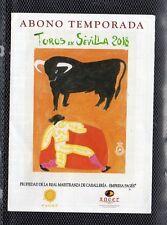 Tauromaquia Toros en Sevilla Programa de mano temporada 2018 (DS-437)