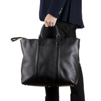 New $2950 TOM FORD Black Grained Leather 'Buckley' Carryall Tote Bag