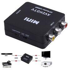 Mini Composite AV CVBS 3RCA to HDMI Video Converter Adapter Black 720p/1080p RF