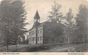 H83/ Hailey Idaho Postcard c1910 Public School Building  65