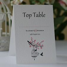 WEDDING TABLE Number Cards Personalised Freestanding Double Sided - Blossom