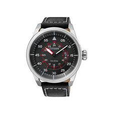 Citizen Analog Casual Watch Eco-drive Aviator Black Mens Aw1360-04e