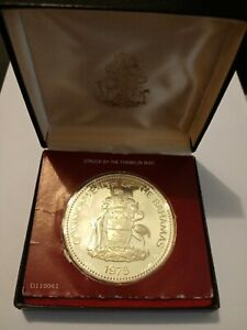 Rare Franklin Mint 1975 Ten Dollar Independence Coin Bahamas Silver Proof Coin