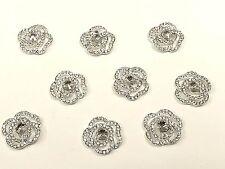 MT69- 10-teilig 20mm Kristall Glitzersteine Strassstein ROSE,Hochzeit Topper